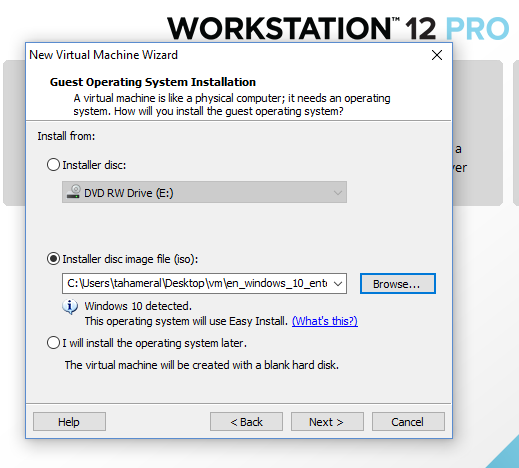 How to Install Windows 10 32 Bit with VMware Workstation 12